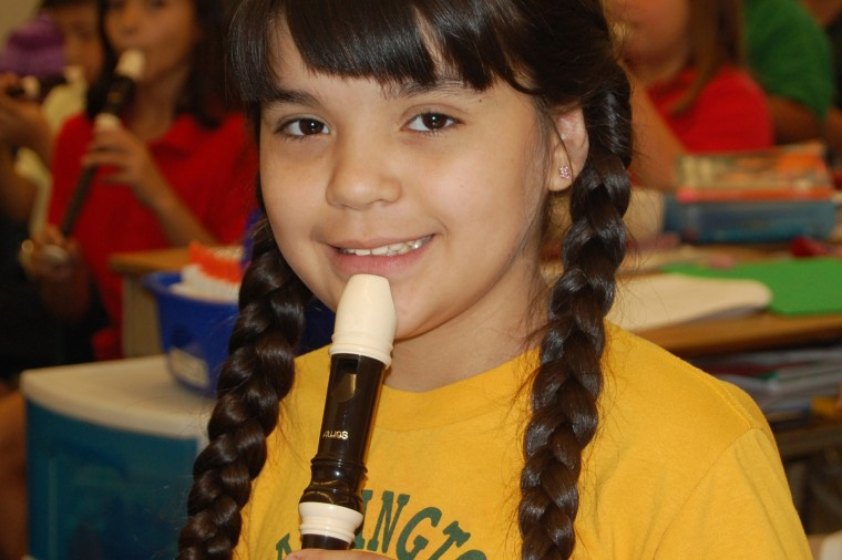 girl with recorder