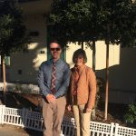 Lynn Snowden and Principal Ross Perry