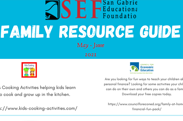 San Gabriel Educational Foundation Family Resource Guide